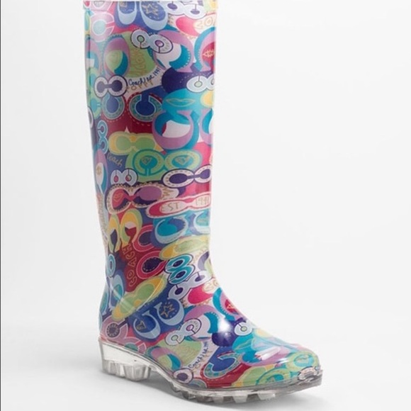 Coach Poppy Pixy Rain Boot Size 9